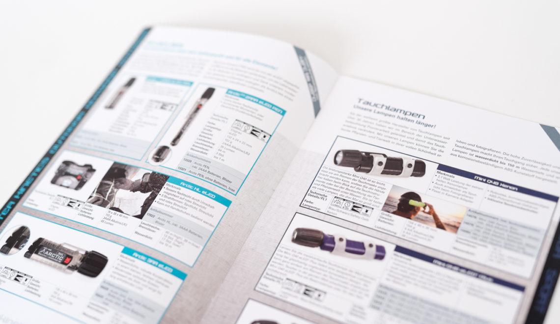 Konzeption & Gestaltung dreier Produktkataloge, gesetzt in fünf Sprachen
