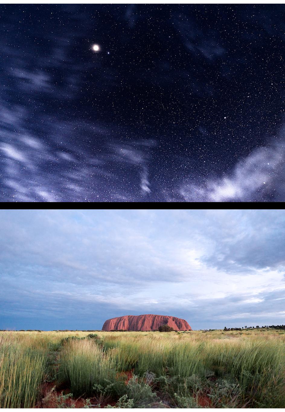 Schlafplatz unter freiem Sternenhimmel, Uluru